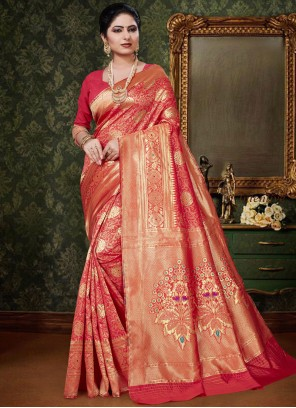 Red Art Silk Designer Traditional Saree