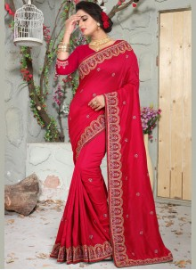 Red Art Silk Traditional Saree