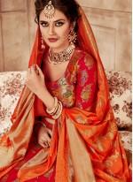 Red Banarasi Silk Lehenga Choli