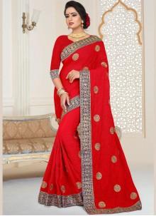 Red Bridal Classic Saree
