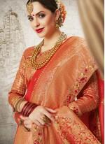 Red Bridal Designer Traditional Saree