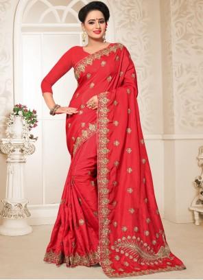 Red Ceremonial Designer Traditional Saree