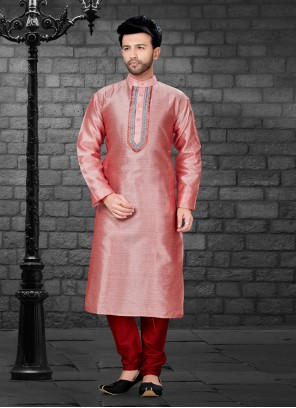 Red Ceremonial Kurta Pyjama
