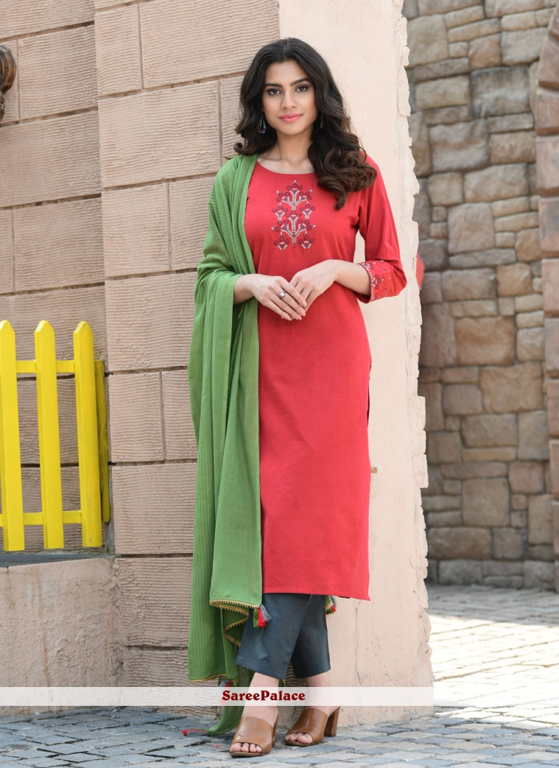 Red Ceremonial Readymade Suit