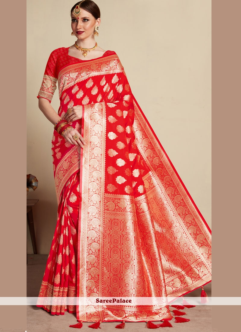 Red Classic Designer Saree