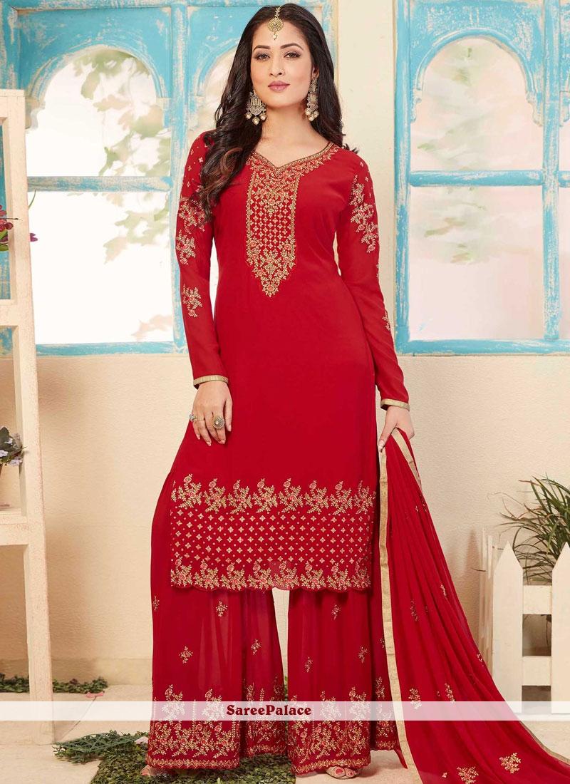 4640e34ca1 Buy Red Designer Pakistani Suit Online