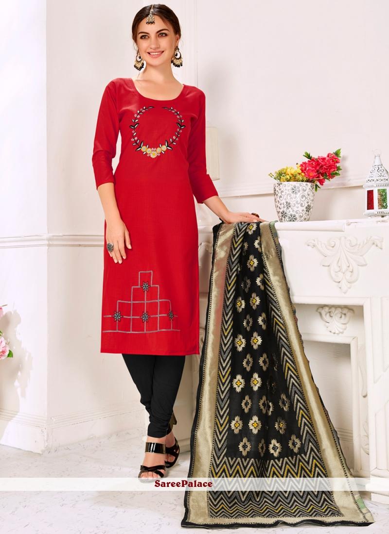 Red Designer Salwar Kameez