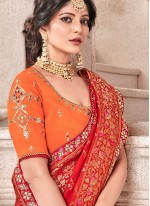 Red Designer Traditional Saree