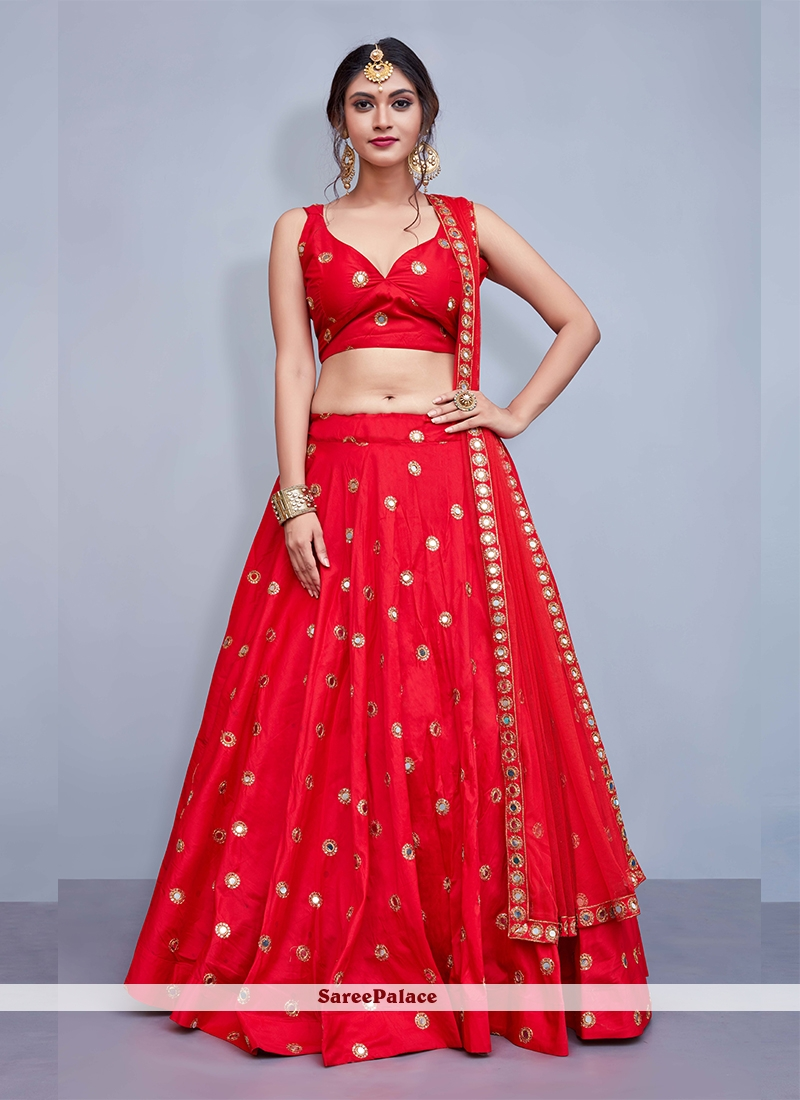 0c9fc1f2fe1f Buy Red Embroidered Readymade Lehenga Choli Online