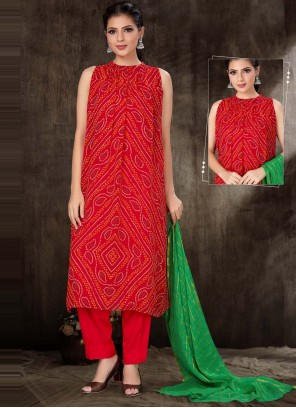Red Festival Readymade Suit