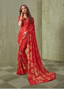 Red Festival Saree