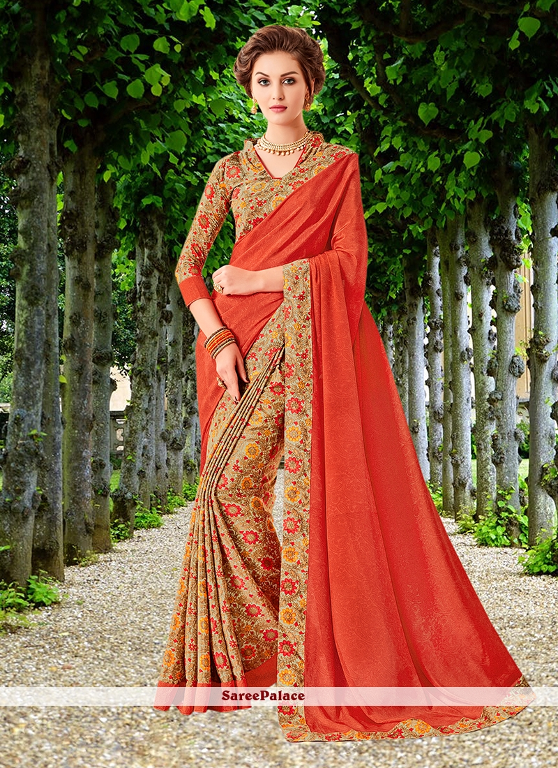 5473f2a78d Buy Red Floral Print Trendy Saree Online