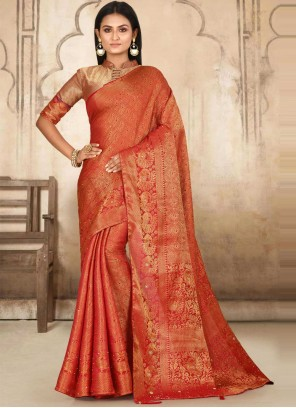 Red Kanjivaram Silk Classic Designer Saree