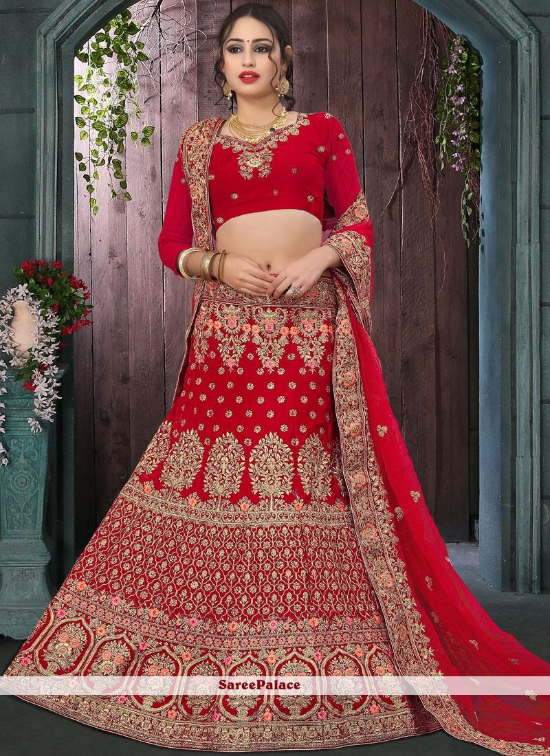 5df2b2301 Buy Red Mehndi Designer Lehenga Choli Online