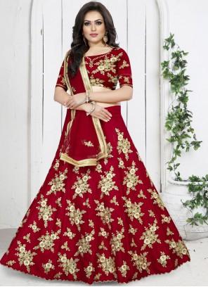 Red Party Trendy Designer Lehenga Choli