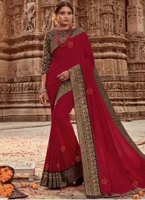 Red Reception Designer Traditional Saree