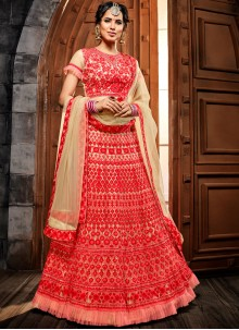 Red Resham Bridal Lehenga Choli