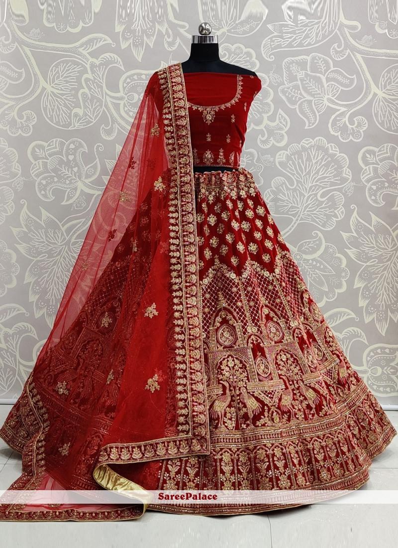 Red Resham Lehenga Choli