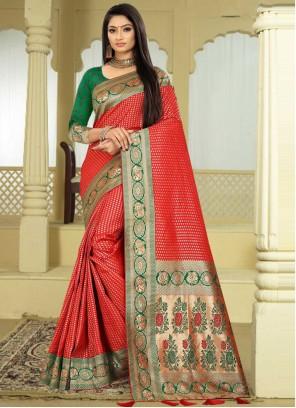 Red Sangeet Classic Designer Saree
