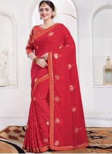 Red Sangeet Classic Saree