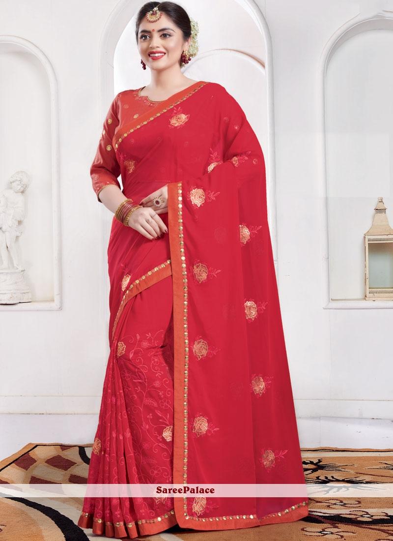Red Sangeet Classic Saree