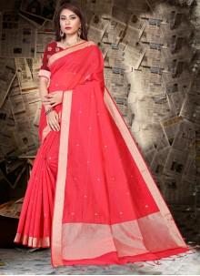 Red Silk Festival Designer Saree