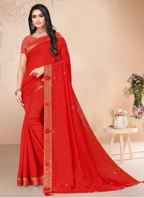 Red Stone Classic Saree
