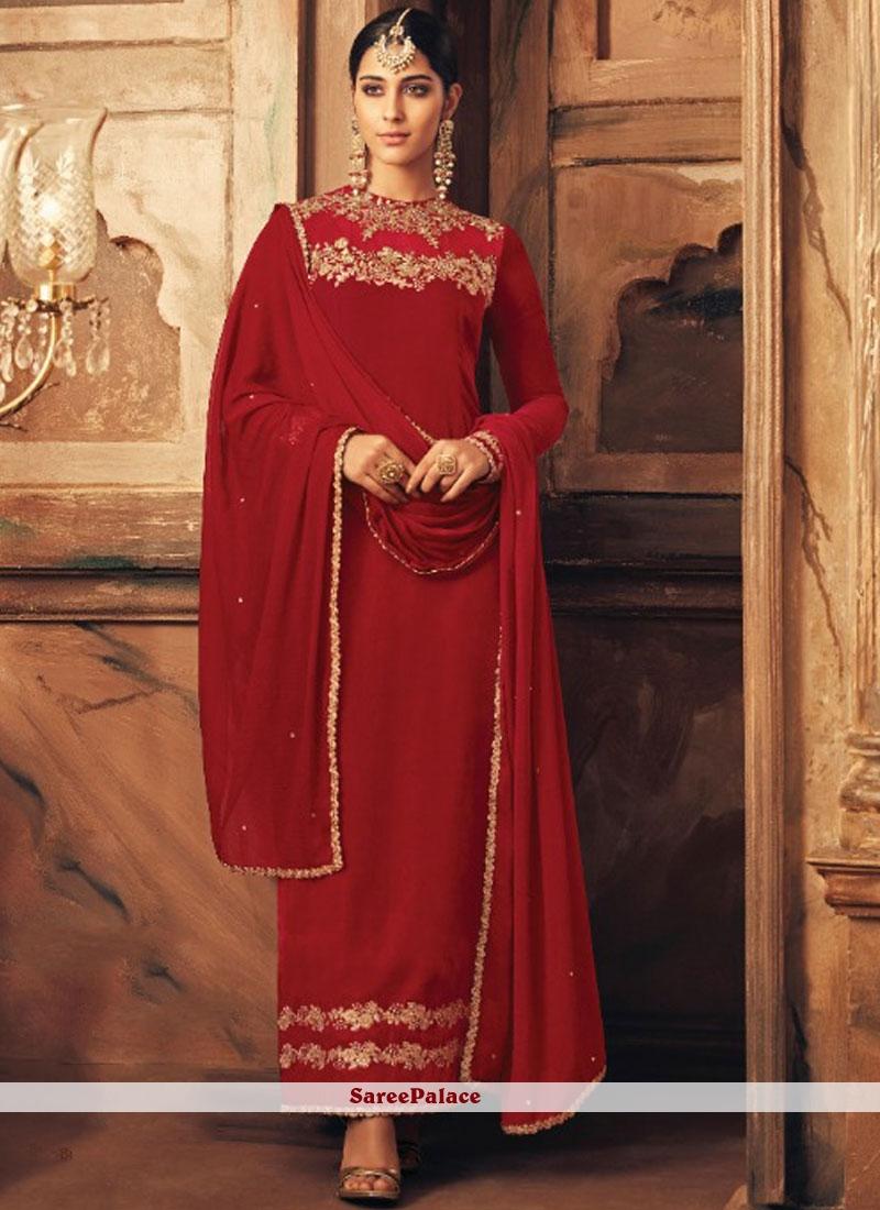 Red Velvet Designer Suit