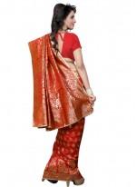 Red Weaving Work Traditional Designer Saree