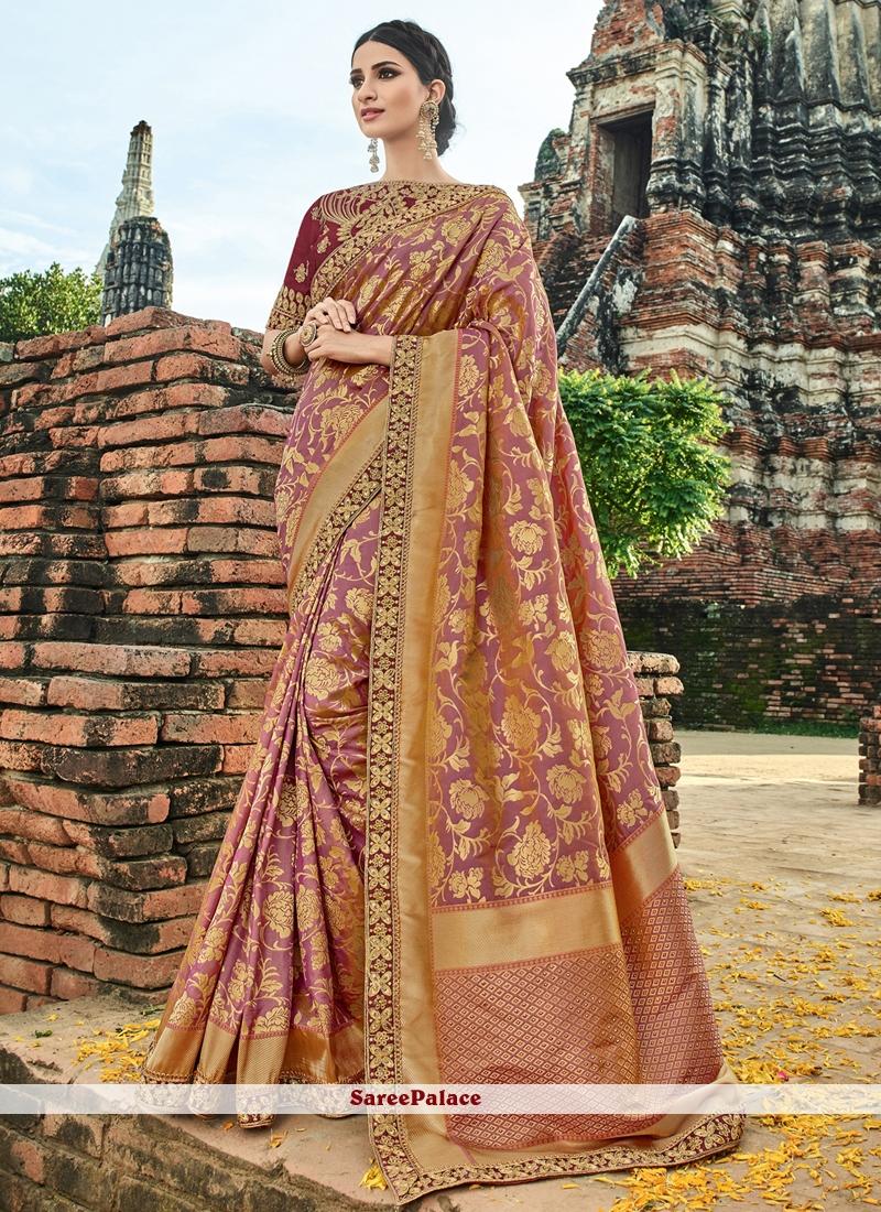 Red Wedding Art Silk Designer Traditional Saree