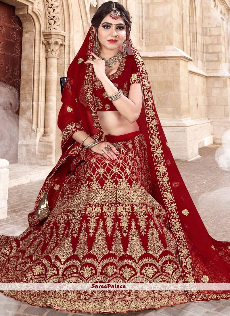 Buy Red Wedding Lehenga Choli Online