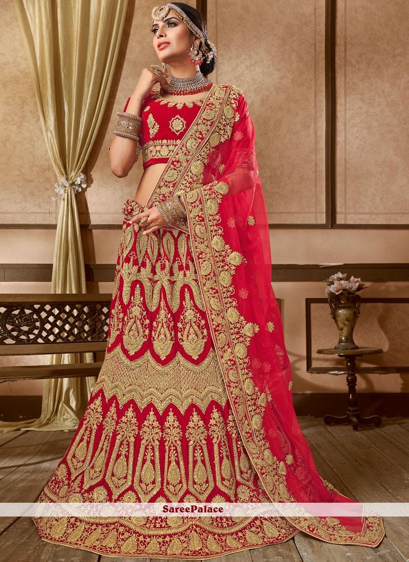 cee55b304a Buy Red Wedding Lehenga Choli Online