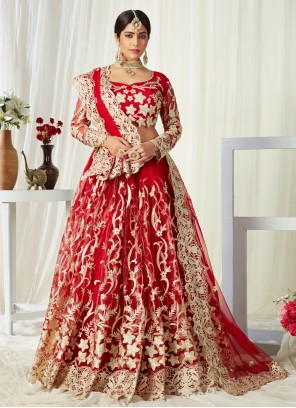 Red Zari Sangeet Lehenga Choli