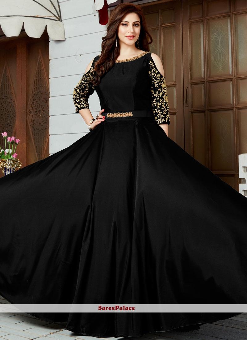 Buy Refreshing Art Silk Floor Length Anarkali Suit Online