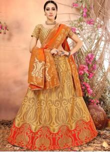 Refreshing Art Silk Weaving Work Lehenga Choli