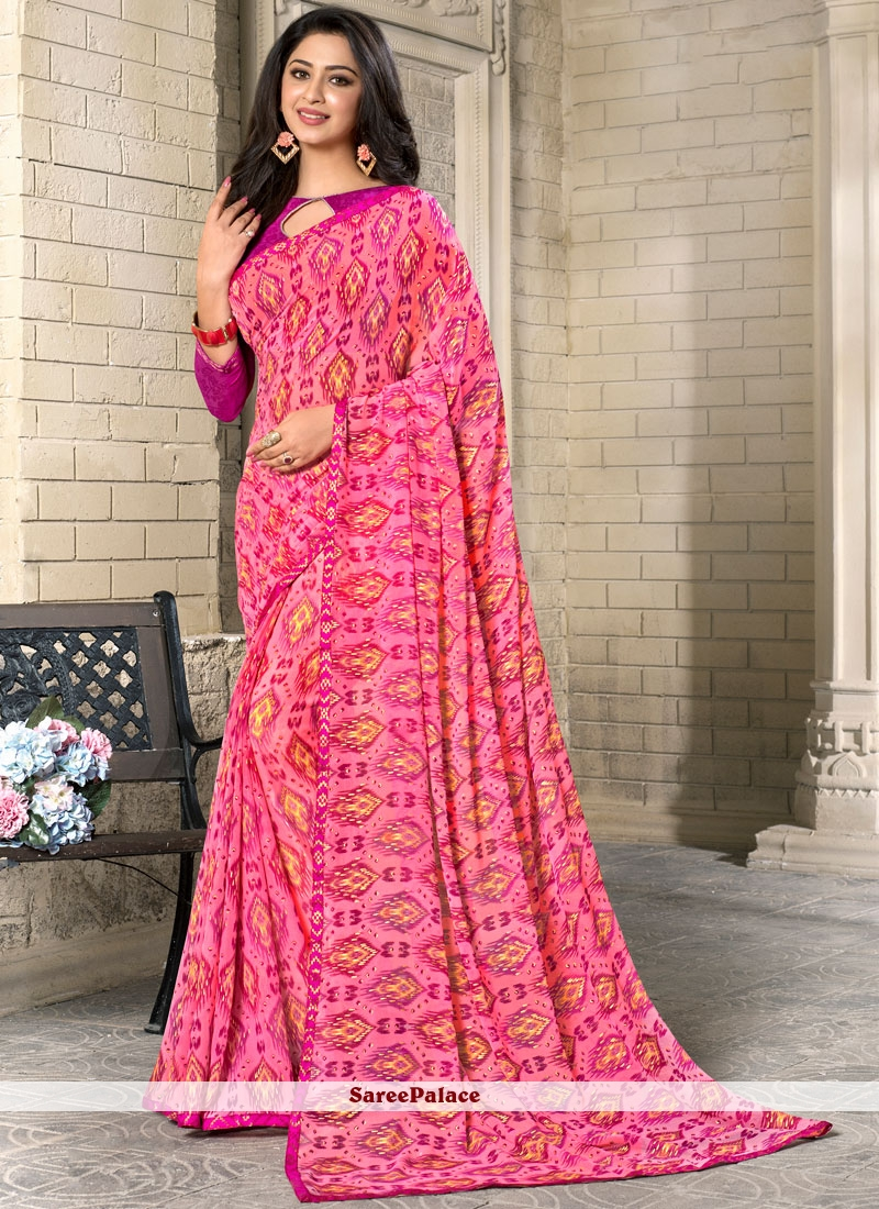 Refreshing Georgette Casual Saree