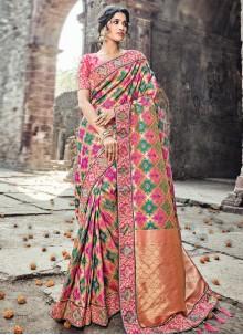 Regal Banarasi Silk Embroidered Work Designer Traditional Saree