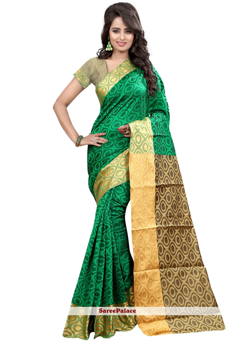 Regal Green Traditional  Saree