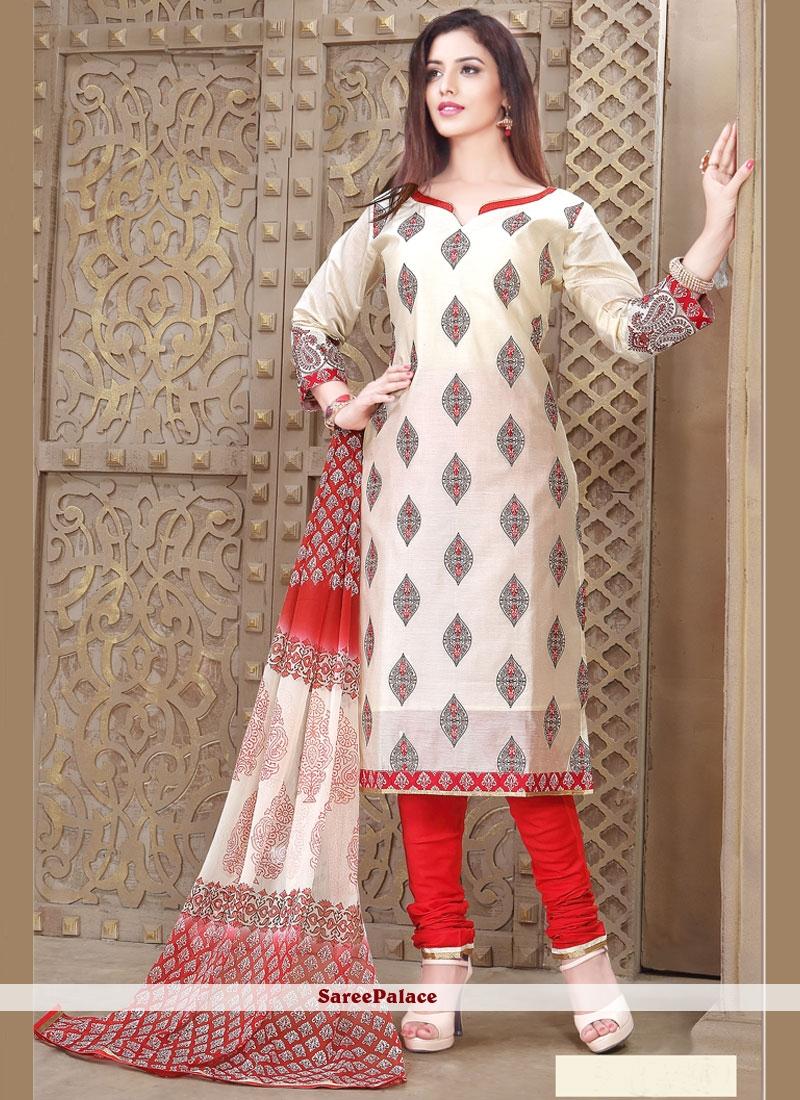 Remarkable Resham Work Chanderi Churidar Designer Suit