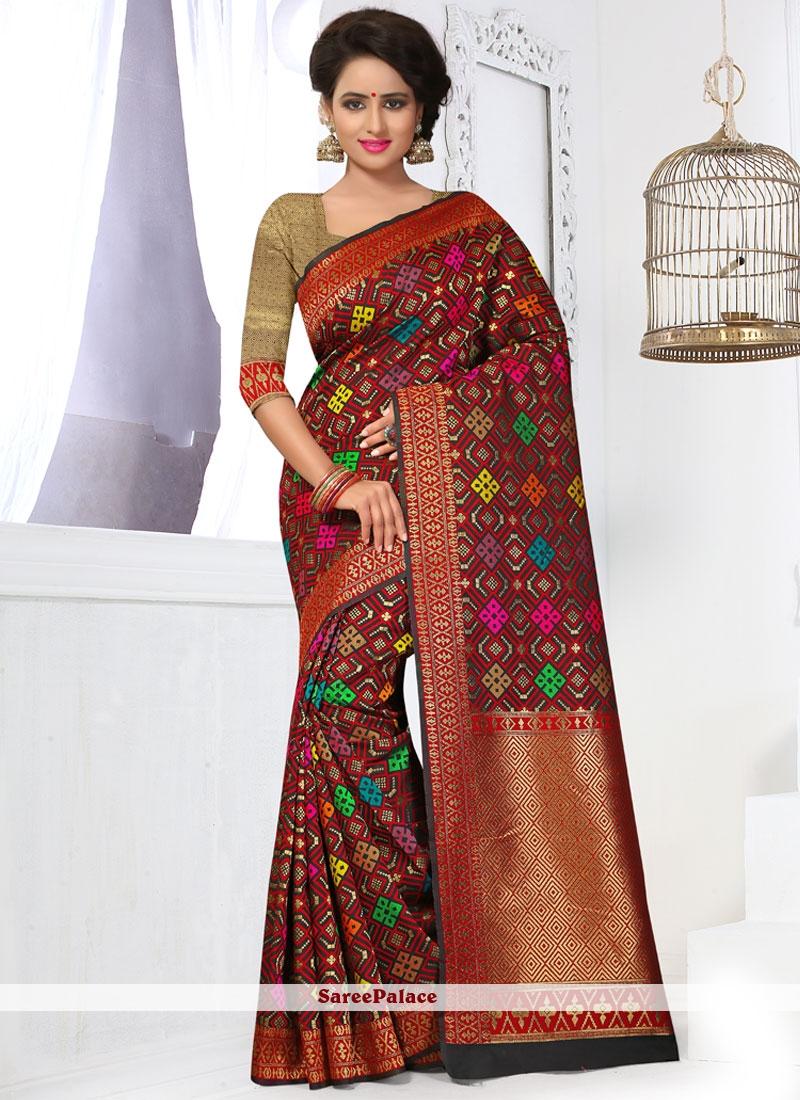Renowned Banarasi Silk Weaving Work Designer Traditional Saree