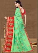 Resham Art Silk Green Traditional Saree