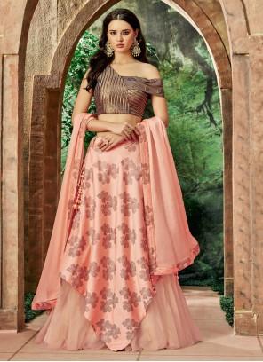 Pink Resham Art Silk Lehenga Choli