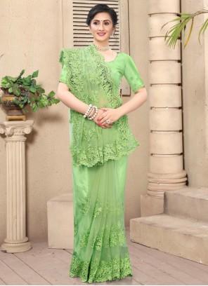 Resham Green Contemporary Saree
