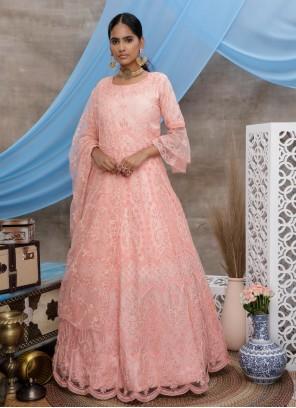 Resham Engagement Designer Gown