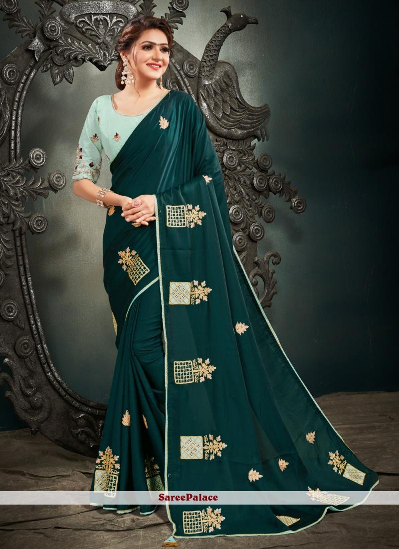 Resham Green Designer Saree