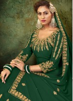 Resham Green Floor Length Anarkali Suit