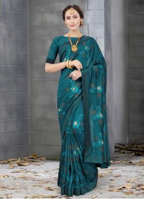 Resham Green Silk Designer Traditional Saree