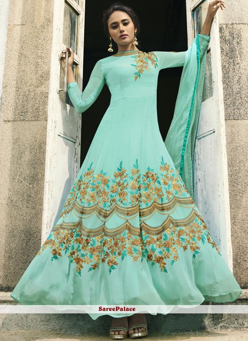 Resham Party Floor Length Anarkali Suit