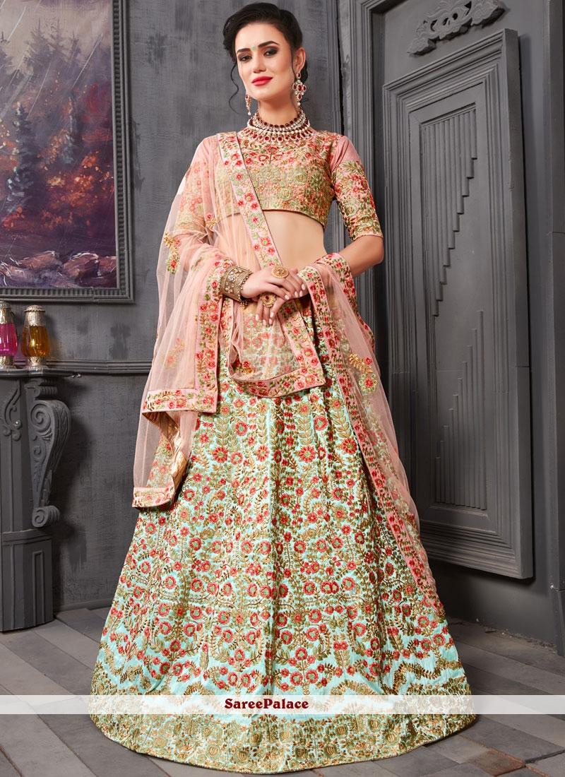 14d5cf559c Buy Resham Pink Art Silk Lehenga Choli Online