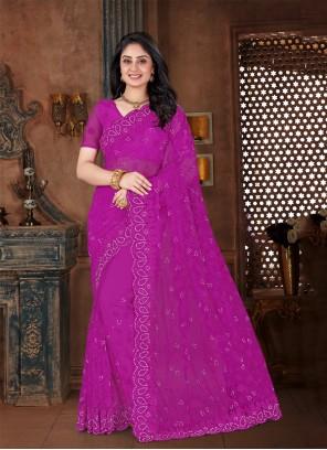 Resham Purple Contemporary Saree